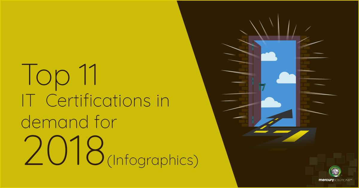 Infographics) Top 11 IT Certifications in Demand today 2018