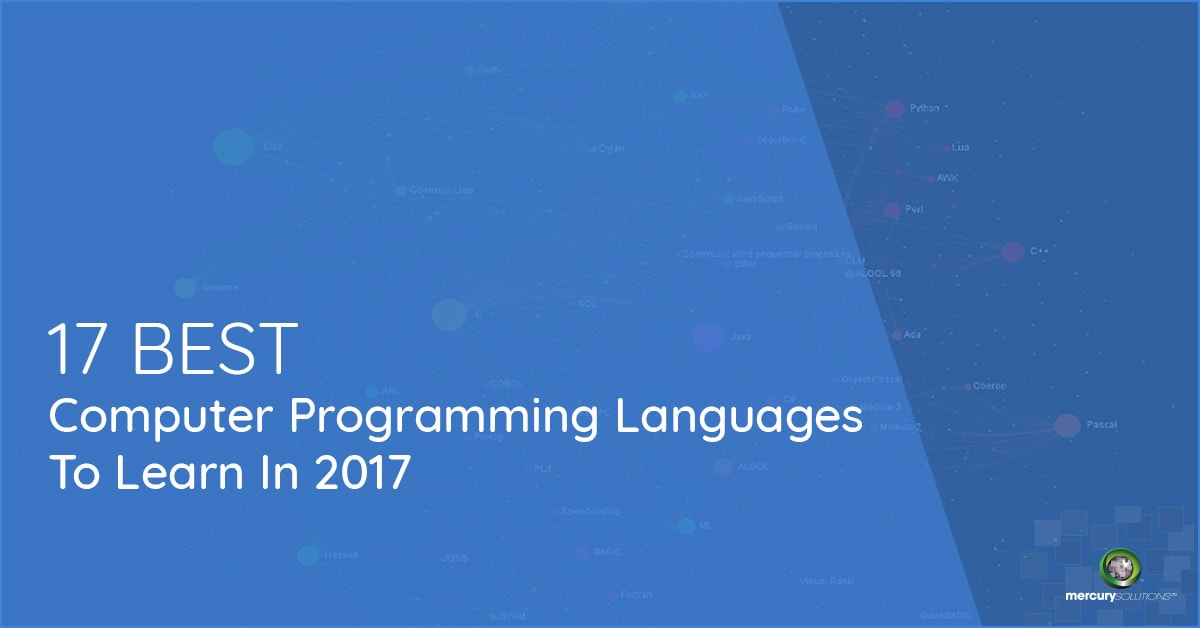 17 BEST COMPUTER PROGRAMMING LANGUAGE TO LEARN IN 2017